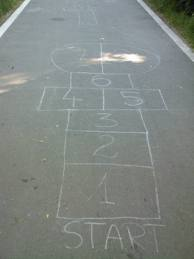 Playing Maths Hopscotch