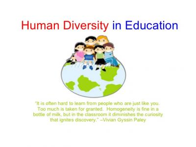 Learning About Diversity In Education