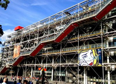 Georges Pompidou National Centre For Art And Culture Museum In Paris