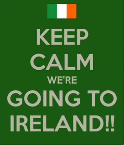 We Are Going To Ireland!!!