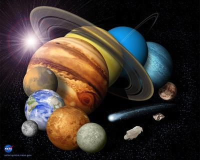 The Solar System, Where Planets Go Round And Space Is Found