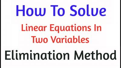 Solving Two Linear Equations By Elimination