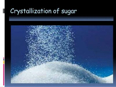 The Sugar Manufacturing Process
